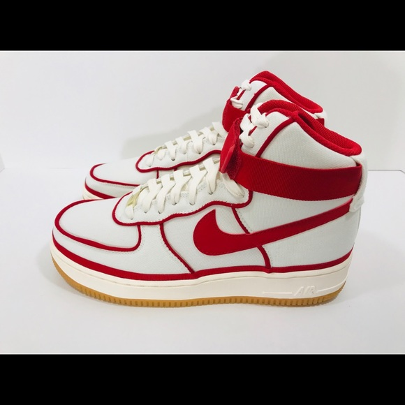 competitive price d4ac9 caa36 Nike Air Force 1 High '07 LV8 806403-101 Sail/Red NWT